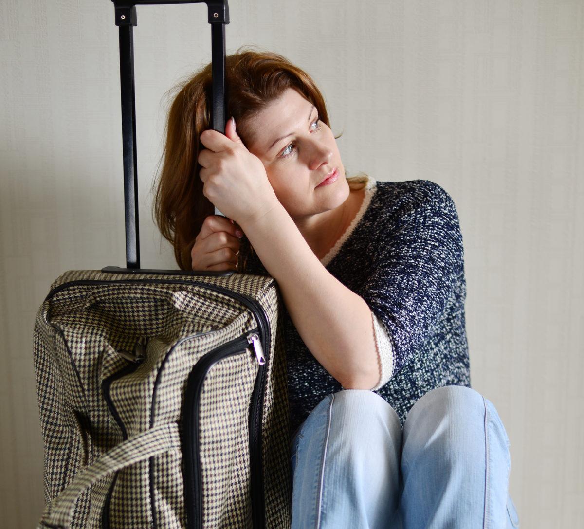 feels guilty for leaving